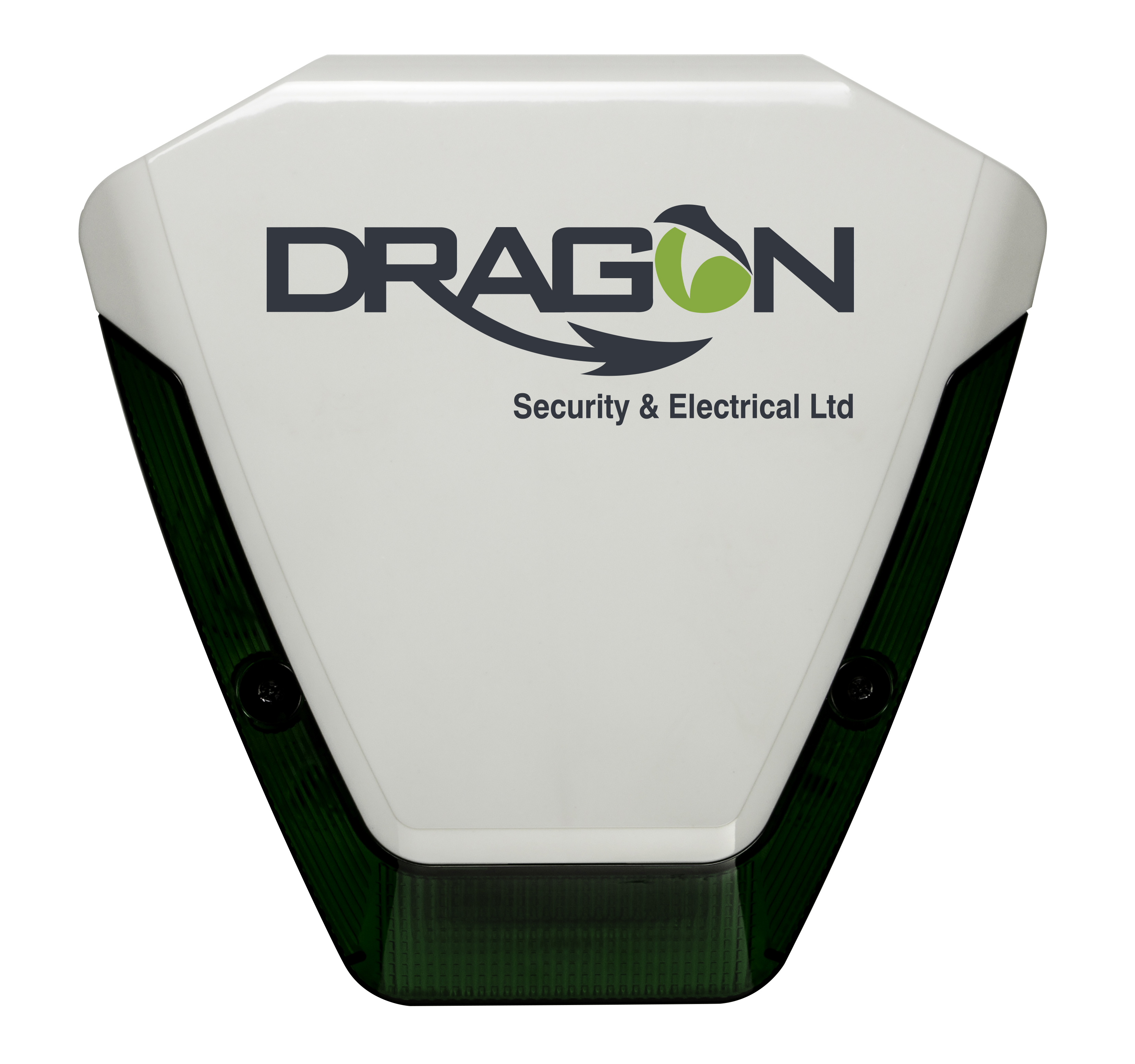 Alarm sounder with dragon logo